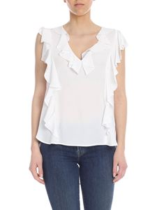 Dondup - White silk blend top