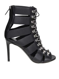 Balmain - Lindsay sandals in black stretch fabric