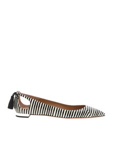 Aquazzura - Forever Marilyn flats in black and white