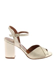 Paris Texas - Platinum-colored leather sandals