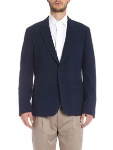 Paul Smith - Embossed cotton jacket in blue