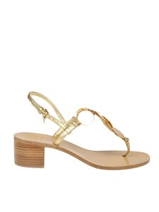 Tory Burch - Patos Disk thong sandals in golden