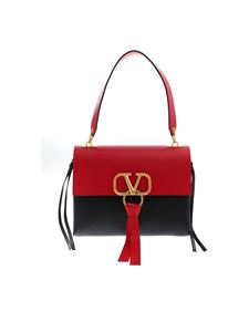 Valentino - Medium Vring bag in red and black