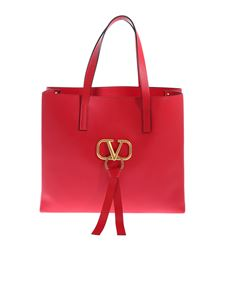 Valentino - Large Vring bag in red