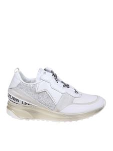 Leather Crown - Aero sneakers in white leather and suede
