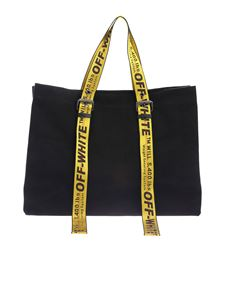 Off-White - Tote bag in black with branded handle