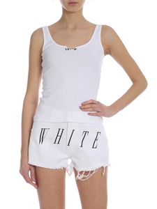 Off-White - Ribbed top in white
