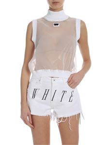 Off-White - Transparent top with knit details