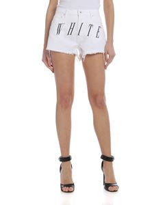 Off-White - Denim shorts in white