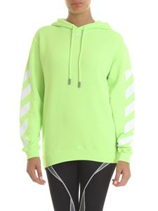 Off-White - Ding print hoodie in neon green