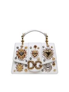 Dolce & Gabbana - White hand bag with rhinestones