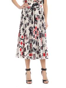 Red Valentino - Terrace printed pleated midi skirt