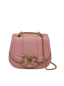 Dolce & Gabbana - DG pink leather bag with rhinestones
