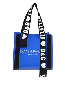 Dolce & Gabbana - Blue PVC bag with D&G logo