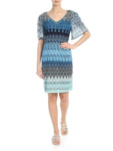 Missoni - Raschel lace dress in shades of blue