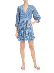 Alice + Olivia - Jonna plissé dress in light blue