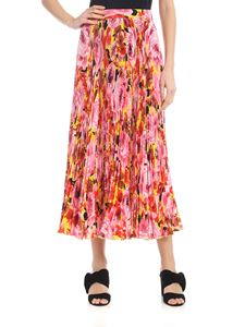 MSGM - Pleated skirt with floral print