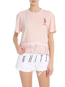 Alanui - Fringed T-shirt in pink