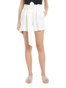 Ermanno Scervino - Shorts in white with waist strap
