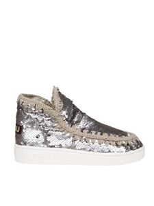 Mou - New Low-Cut Summer Eskimo in paillettes grigie