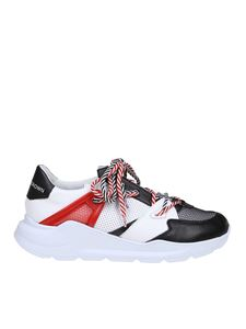 Leather Crown - Aero sneakers black and white