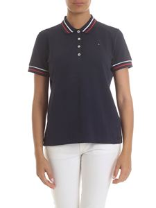 Tommy Hilfiger - Polo in blue with red and white edges