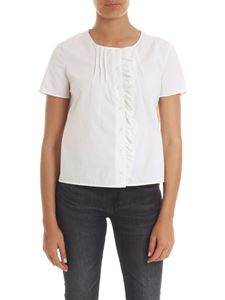 Manila Grace - White shirt with printed insert