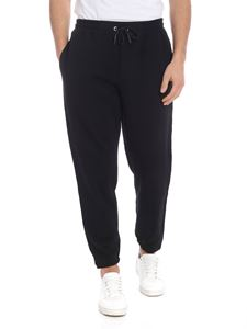 McQ Alexander Mcqueen - Black pants with branded bands