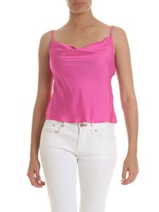 Manila Grace - Fuchsia top with draped neckline