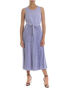 Tommy Hilfiger - Striped long dress in blue and white