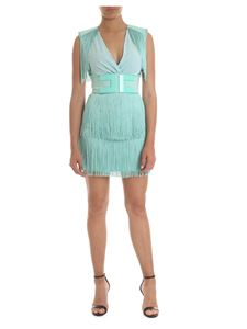 Elisabetta Franchi - Dress with fringes in water green