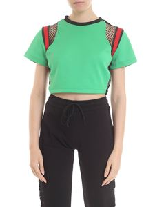Gaelle Paris - Crop T-shirt in green and black