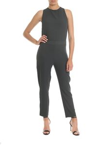 Ottod'Ame - Jumpsuit in dark green flowing fabric