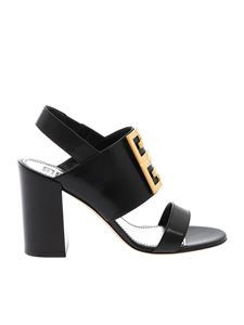 Givenchy - Slingback sandals with 4G logo in black