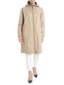 K-way - Marlene reversible parka in beige