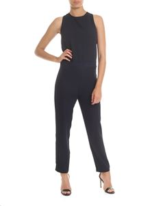 Ottod'Ame - Fabric jumpsuit in dark blue
