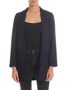 Ottod'Ame - Oversize jacket in blue with faux pockets