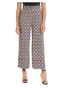 Ottod'Ame - Multicolor crop trousers with eye motif