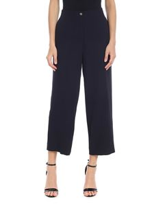 Ottod'Ame - Fabric trousers in dark blue