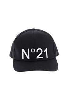 N° 21 - N ° 21  embroidered cap in black