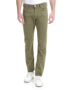 Jacob Cohën - Cotton jeans in army green color