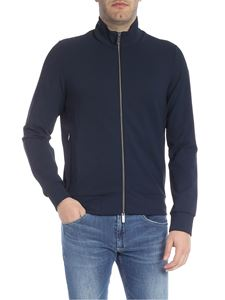 RRD Roberto Ricci Designs - Techno Flece Full zip sweatshirt in blue and black
