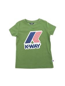 K-way - Pete crew-neck T-shirt in green