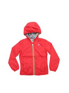 K-way - Lily Plus Graphic reversible jacket in red