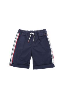 Tommy Hilfiger - Blue bermuda with branded white bands