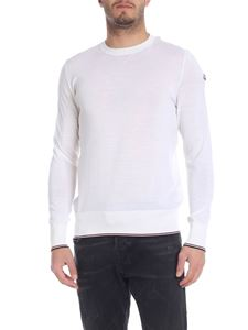 Moncler - Pullover in fresco di lana color panna