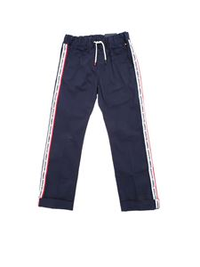 Tommy Hilfiger - Trousers in blue with branded bands