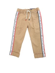 Tommy Hilfiger - Trousers in beige with branded white bands