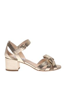 Tod's - T50 sandals in golden with bow