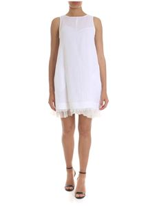 Fabiana Filippi - Short dress in white with embroidered flounce